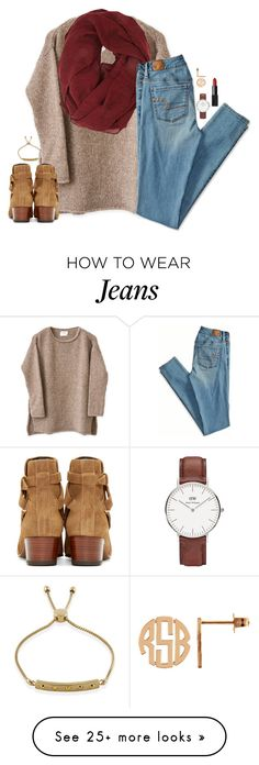 """""""read d!"""" by kaley-ii on Polyvore featuring Forever 21, American Eagle Outfitters, Yves Saint Laurent, Daniel Wellington and NARS Cosmetics"""