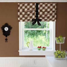 Interiors Etc. Details: Window Treatments with Style! Thinking of using this idea in Nathan's room.