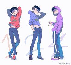 osomatsu, karamatsu, and ichimatsu image Anime Chibi, Haikyuu Anime, Dark Anime Guys, Anime Love, Anime Siblings, Osomatsu San Doujinshi, Ichimatsu, Homestuck, Me Me Me Anime