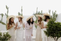 The inimitable allure of European minimalism. white washed walls set amongst an olive grove layered in linens, flickering candles and rustic touches. Wedding Hats, Wedding Reception Decorations, Chic Wedding, Luxury Wedding, Elegant Wedding, Wedding Styles, Bridesmaids And Groomsmen, Bridesmaid Dresses, Wedding Dresses