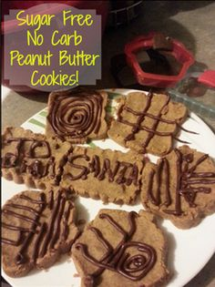 Sugar Free No Carb Peanut Butter Cookies!