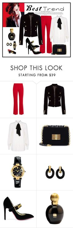 """Contest - Crushing on Velvet"" by romaboots-1 ❤ liked on Polyvore featuring Giambattista Valli, Marella, Exclusive for Intermix, Claudie Pierlot, Tom Ford, Versace, Yves Saint Laurent, Gucci, Lanvin and Chanel"