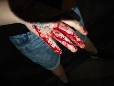 #blood #tatto #hand #ginger