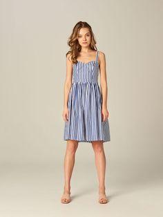 Bavlnené šaty v námorníckom štýle - biela - UE509-00X - Mohito - 2