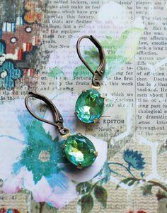Summer Sparkle Vintage Glass Earrings