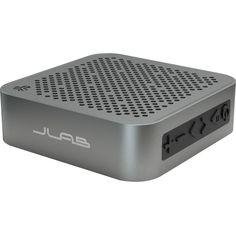 JLab Speaker System - Portable - Battery Rechargeable - Wireless Spea, Grey #MINI-BLK-BOX
