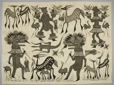 Wrapper LOCAL NAME:filafani PLACE MADE:Africa: West Africa, Côte d'Ivoire PEOPLE:Senufo PERIOD:20th century DATE:1900 - 1980 DIMENSIONS:L 285 cm x W 212 cm MATERIALS:Cotton TECHNIQUES:Printed; painted; machine-sewn