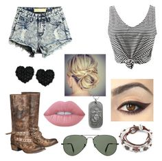 """""""Beautiful!"""" by sillylilli02 on Polyvore featuring Betsey Johnson, Lizzy James, Ray-Ban, Lime Crime and Lane"""