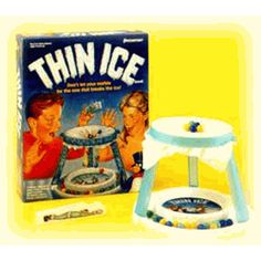 Thin ice-work on fine motor skills picking up the marbles but don't break the ice!