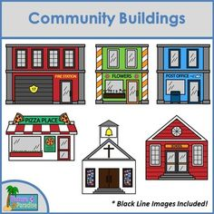 "Create your own city with this awesome clip art pack! With so many buildings to choose from, you will have a hard time picking your favorite! The following buildings are included:- Bakery- Bank- Barber Shop- Church- Coffee House- Fire Station- Flower Shop- Grocery Store- Hospital- House- Ice Cream Shop- Library- Museum- Office Building- Pet Store- Pizza Shop- Police Station- Post Office- School- TheatreThis pack works well with my ""Bubble Buddies Career Clip Art""."