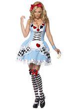 Heisse Alice Damenkostüm Märchen hellblau-weiss, aus unserer Kategorie Märchenkostüme. Alice ist rein zufällig aus unserer Welt in das verborgene Märchenland gelangt. Seitdem verdreht sie allen Märchenfiguren den Kopf und sorgt für heilloses Durcheinander. Ein heißes Kostüm für Karneval und Märchen Mottopartys.