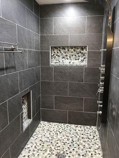Image of: modern shower remodel diy sgaworld modern shower tile for midcentury bathroom Bathroom Remodel Cost, Shower Remodel, Bathroom Renovations, Best Bathroom Tiles, Small Bathroom, Bathroom Ideas, Bathroom Designs, Bathroom Hacks, White Bathrooms