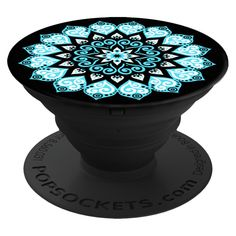 Popsockets Cell Phone Grip and Stand - Peace Mandala, Light Blue