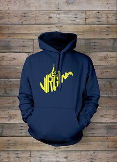 West Virginia Stately Hooded Sweatshirt from The Stately Shirt Co   WV Hoodies   WV Hoodie   West Virginia Home State Hoodie   WVU Hoodie 39.99 USD