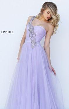 Asymmetrical Beaded Gown by Sherri Hill 50409