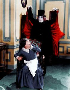 Color photo still from London After Midnight with Lon Chaney sr. Now considered a lost film