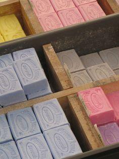 St Remy de Provence - market, lavender soap, savon lavande, Provence Aromes