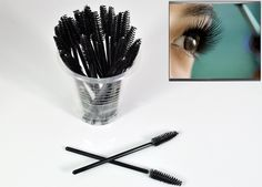 Net Weight: 101g. Color: Black. Whole Size: 9.5cm long (approx). Made of nylon yarn. Perfect for separating eyelashes before and/or after mascara application. Makes a great free gift for your clients to take home.