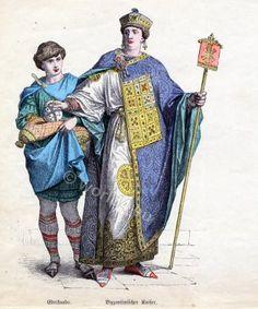 Byzantine costume history. 5th century fashion.
