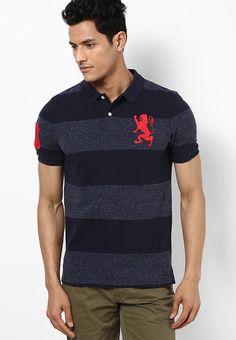 ed94f5ca Buy GIORDANO Black Striped Polo T-Shirts Online - 3562626 - Jabong
