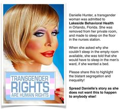 """TRANSGENDER RIGHTS ARE HUMAN RIGHTS!: """"@PorkChopLA: @GayEqualityNow @OutandEqual @AudraEqualityMc @RuPaul @GayWeHo @tmz Plz RT """" this MUST STOP!"""