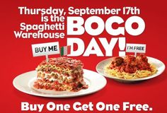 Spaghetti Warehouse: Buy One, Get One Free Entree Coupon (today only!)