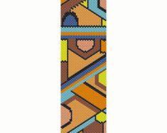 Geometric 14 Peyote Bead Pattern Bright Colors par SmartArtsSupply