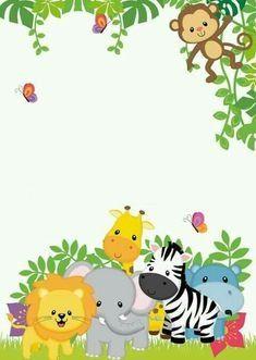 54 Ideas baby shower invitations for boys safari Jungle Theme Birthday, Animal Birthday, Boy Birthday, Birthday Parties, Birthday Ideas, Birthday Sweets, Deco Baby Shower, Baby Shower Parties, Baby Boy Shower