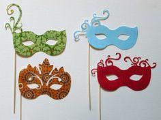 Pretty masquerade masks make fun photobooth props Sweet 16 Masquerade, Masquerade Party, Masquerade Masks, Wedding Photo Booth, Photo Booth Props, Photo Booths, Props Photobooth, Arts And Crafts, Paper Crafts