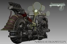 The Gyrostator, steampunk motorcycle by Kevin Mowrer