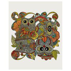 Four Owls Print 11x14