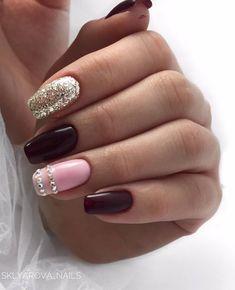 Nail Colors, Color Nails, Nail Designs, Nail Art, Beauty, Nails, Make Up, Colorful Nail, Nail Desings