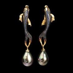 $780 !!!!!!!!!!!! Серьги Fish - купить в Mousson Atelier