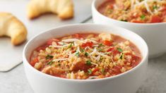 Slow-Cooker Chicken Parmesan Soup 12 Make ahead soups Crock Pot Soup, Slow Cooker Soup, Crock Pot Cooking, Slow Cooker Chicken, Slow Cooker Recipes, Crockpot Recipes, Soup Recipes, Chicken Recipes, Cooking Recipes