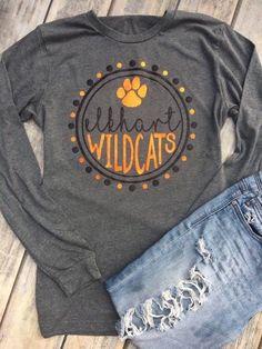 Elkhart Wildcats Customizable Team Pride Wildcat Pride Team Name Custom Team Mascot Custom Team Shirt School Spirit School Pride - Funny Team Shirts - Ideas of Funny Team Shirts - School Spirit Wear, School Spirit Shirts, School Shirts, Teacher Shirts, School Spirit Crafts, Dance Team Shirts, Cheer Shirts, Sports Shirts, Cheerleading Shirts