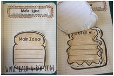 Main Idea and Details with PB and Jelly! Awesome unit for incorporating informational and functional text.