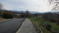 View of the Hudson Maine, Sidewalk, Country Roads, Side Walkway, Walkway, Walkways, Pavement