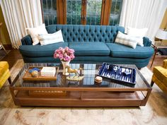 Stylish Mantel With Modern Wallpaper : Designers' Portfolio : HGTV - Home & Garden Television