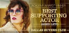 "Jared Leto Academy Award Winner Best Supporting Actor by ""Dallas Buyers Club"" . Academy Awards 2014, Academy Award Winners, Jared Leto Oscar, Jared Leto Movies, Dallas Buyers Club, Dark Men, Best Supporting Actor, Shannon Leto, Just Jared"