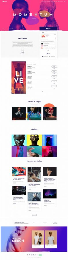 This lovely niche theme is built and suitable for musicians, artists, music bands, producers or anyone working in the music industry. Users with zero Web Design Inspiration, Design Trends, Design Ideas, City Branding, Life Logo, Mobile Responsive, Ui Web, Best Web Design, Landing Page Design