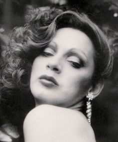 Holly Woodlawn  - Dallas had directed her in Broken Goddess and Vincent was doing her makeup in Women Behind Bars. She would come over to our place in her jeans and drink. I love that Boriqua.