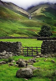 Wasdale , a valley in the western Lake District of Cumbria, England