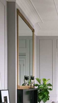 Fashion Forward_ Metrie mouldings and mirror
