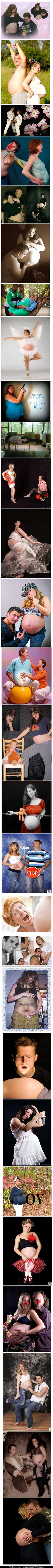 Totally awkward pregnancy photos... Please, please, PLEASE, if any of my friends get pregnant, recreate these pictures!