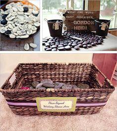 Wishing stones wedding decor