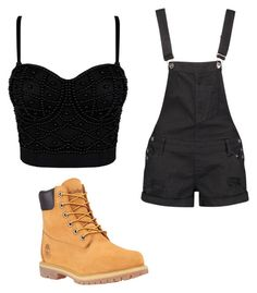 """""""Untitled #3"""" by naishagullaume ❤ liked on Polyvore featuring Boohoo and Timberland"""