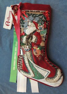 tapestry tent needlepoint christmas stockings | Santa and the Snow Leopards by Liz from Tapestry Tent & Gallery.ru / Agnieszka Andrzejewska | cross stitch | Pinterest ...