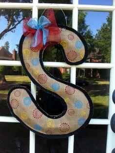 Burlap Letter Door Hanger