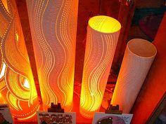 Luminárias com tubo de PVC