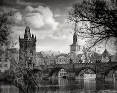 Charles Bridge Photo Prague Photography Black by WPThayerFineArt